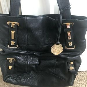 Vince Camuto gold studded leather bag